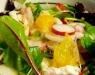 Салат из редиса с апельсином и козьим сыром