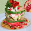 Салат из крабов «Пизанская башня»