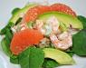 Салат с авокадо, креветками и сельдереем