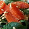 Салат с апельсином, зеленью и сыром «Фета»