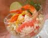 Салат с креветками, капустой и грейпфрутом