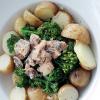 Салат с сардинами и брокколи
