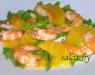 Салат с апельсином и креветками