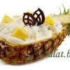 Десерт с ананасом