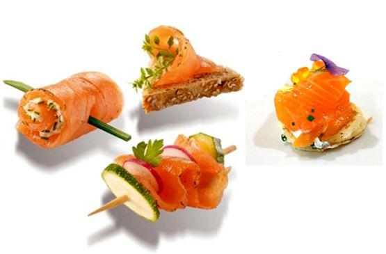 Бутербродики из красной рыбы